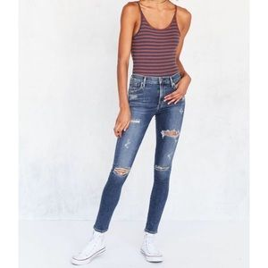 AGOLDE Sophie skinny high rise distressed jeans
